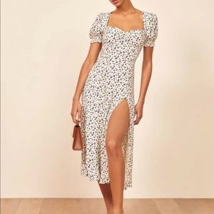 Reformation Lacey Midi Dress in Mykonos size 8